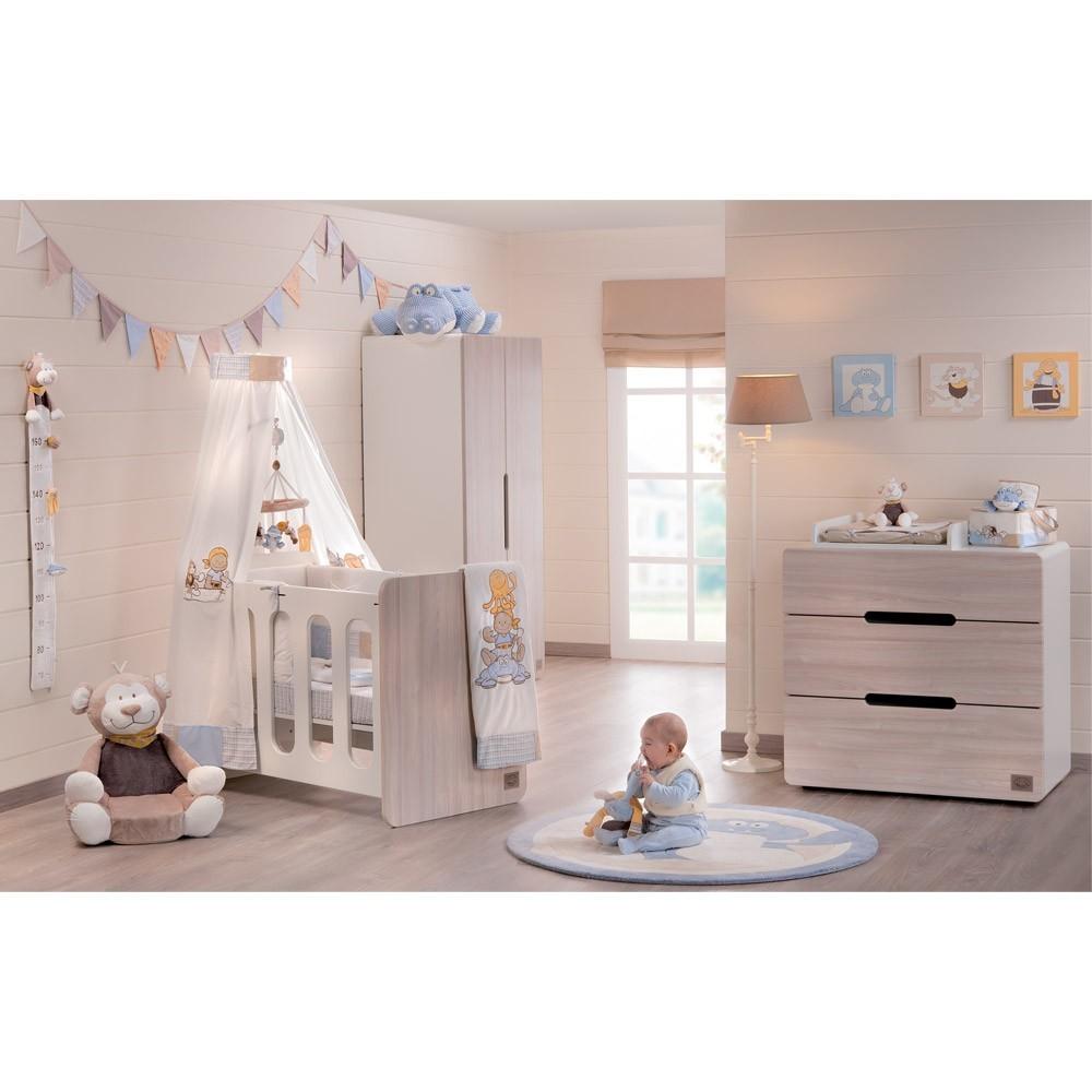chambre aspen bois avec lit volutif 60x120 plexiglas noukie 39 s. Black Bedroom Furniture Sets. Home Design Ideas